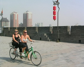 Cycling on Xian Ancient City Wall