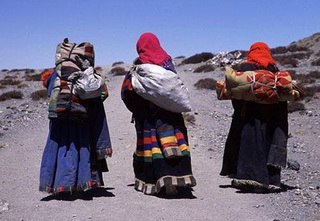 Nomads in Northern Tibet