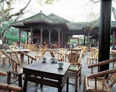Teahouse in Chengdu,China