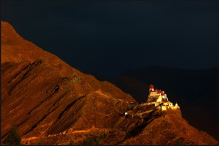 Yumbulakhang Castle in Yarlung Valley,Tibet