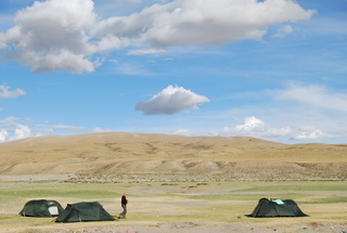 Camp by Lake Manasarovar,West Tibet