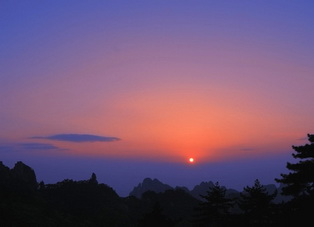 Sunrise Mt.Huangshan,China