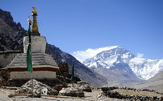 Mt.Everest View from Rongbuk Monastery