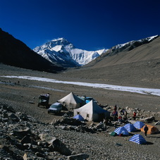 The Base Camp of Mt.Everest in Tibet