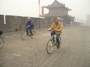 Cycle tour on the Ancient City Wall,Xian
