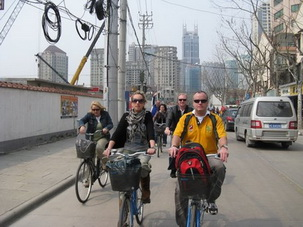 Biking in Shanghai,China