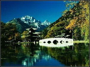 Black Dragon Pool in Lijiang Ancient Town,Yunnan