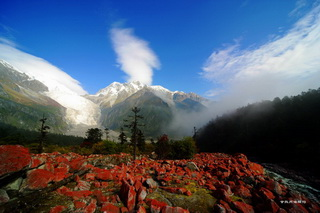 Red Rock Shoal,Hailuogou,Sichuan
