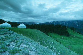 Yurt at Sayram Lake,West Xinjiang