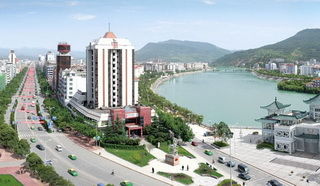 Guangyuan City,SW China