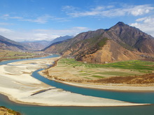 First Bend of the Yangtze River,Yunnan Province