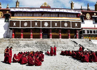 Monks at Drepung Monastery,Lhasa,Tibet
