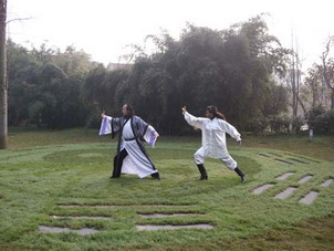 Chinese Kung Fu learning on Mt.Qingcheng,Sichuan