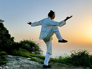 Kung Fu Practice at Golden Summit of Mt.Emei,Sichuan