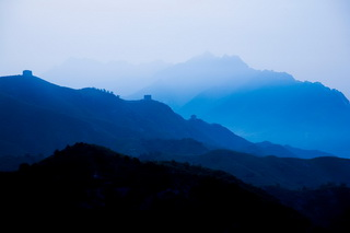 Scenery along the Great Wall of China