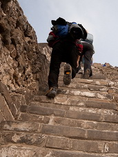 Walking on Heavens Ladder on the Great Wall
