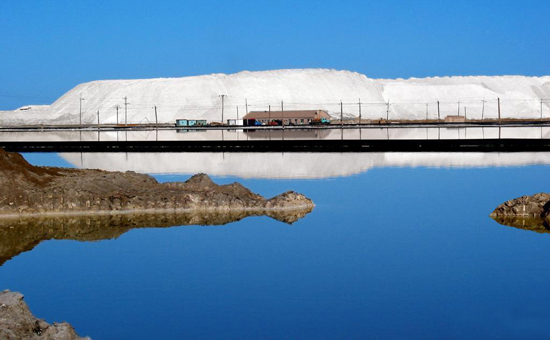 Qarhan Salt Lake, one of the 'top 10 attractions in Qinghai, China' by China.org.cn.