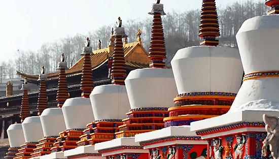 Ta'er Lamasery, one of the 'top 10 attractions in Qinghai, China' by China.org.cn.
