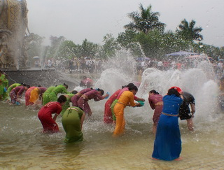 Water Splashing Festival in Yunnan
